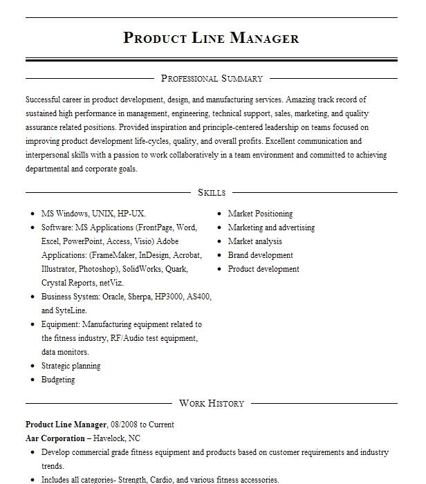 product line manager resume example horiba instruments