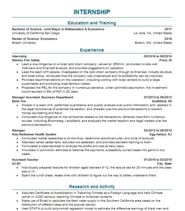 economics research assistant resume example university of