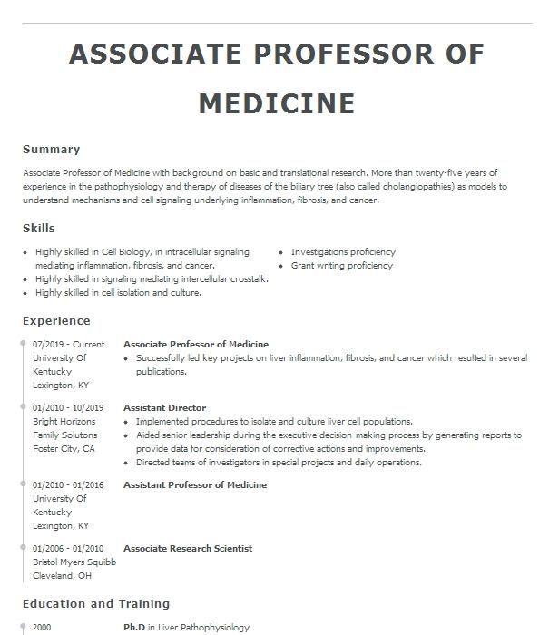 associate professor of sociology resume example northern