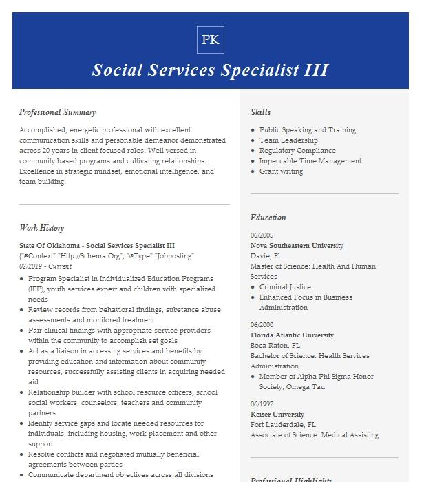 adult protective and community worker ii resume example
