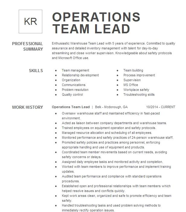 Preceptorship: Team Leader, Charge Nurse Resume Example