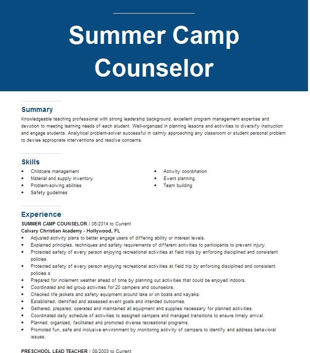 Camp instructor resume racism research paper topics