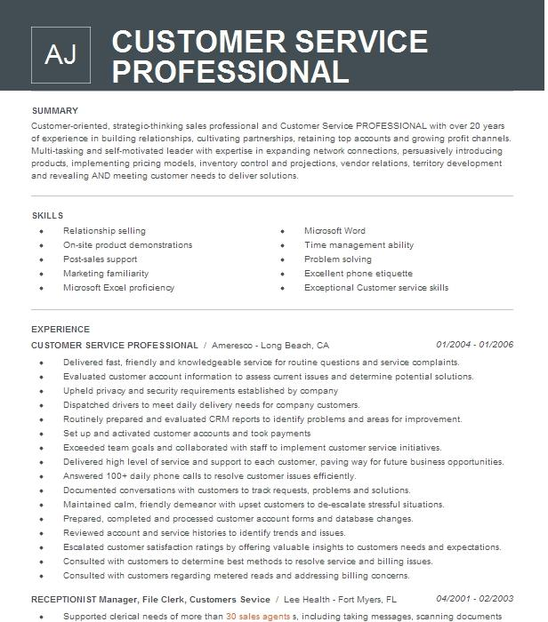 customer service professional   csp  resume example h u0026r block