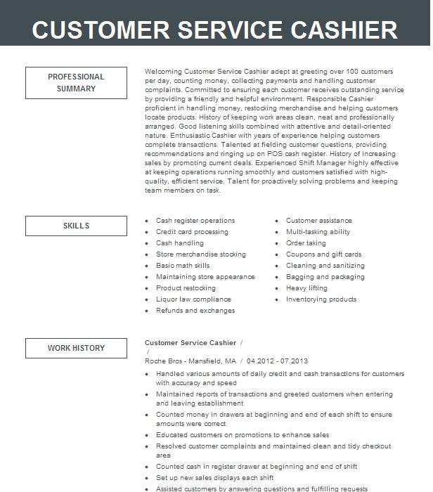 cashier   customer service supervisor resume example wal