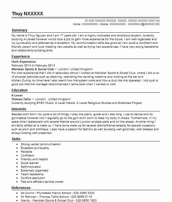57 stage management cv examples