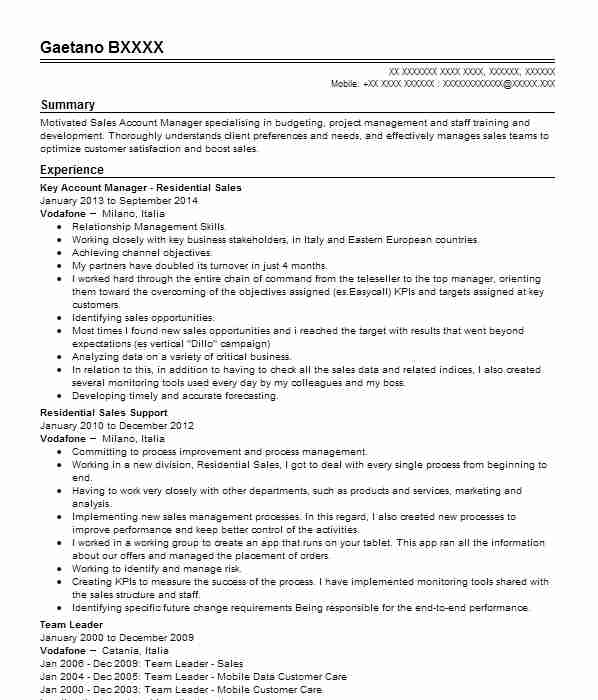 324 telephone sales cv examples