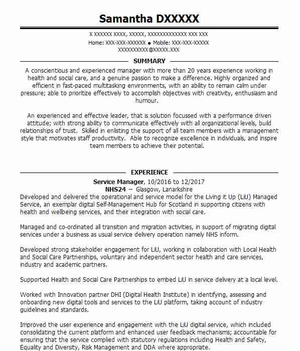 Deputy Care Manager CV Example (Adelphi Care Services) - Battlefield ...