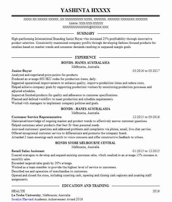 garment technologist work placement cv example  marks and