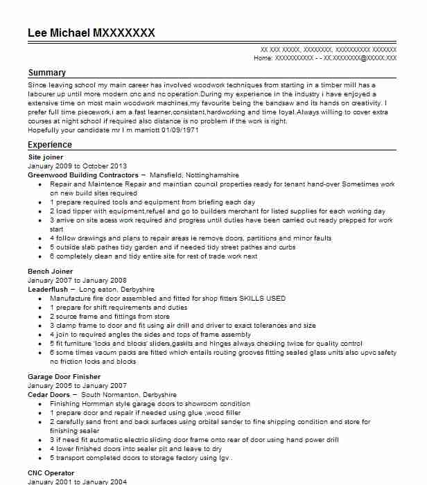165 wood workers cv examples manufacturing and production cvs site joiner yelopaper Images