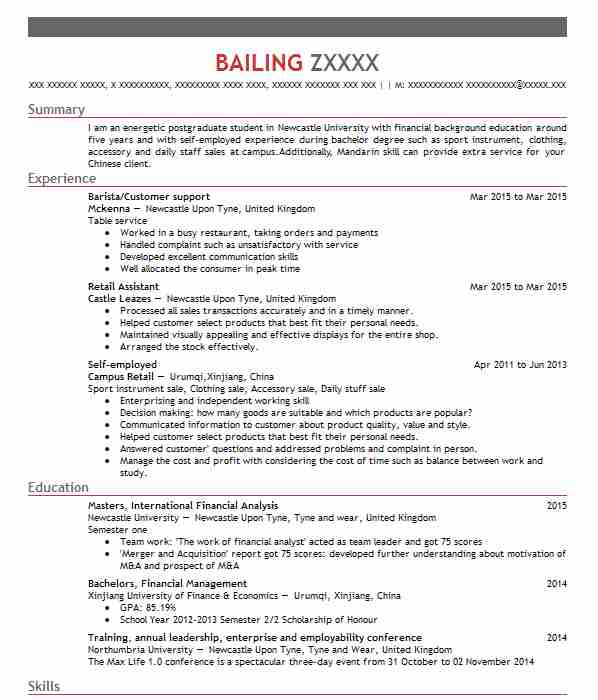 829 Financial Management CV Examples | Accounting And Finance CVs ...