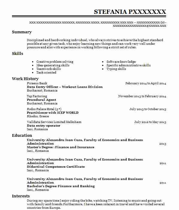 2500 Banking And Financial Services CV Examples & Templates | LiveCareer