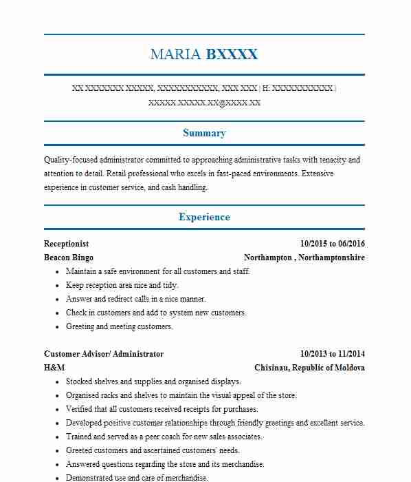 barista cv example  costa coffee