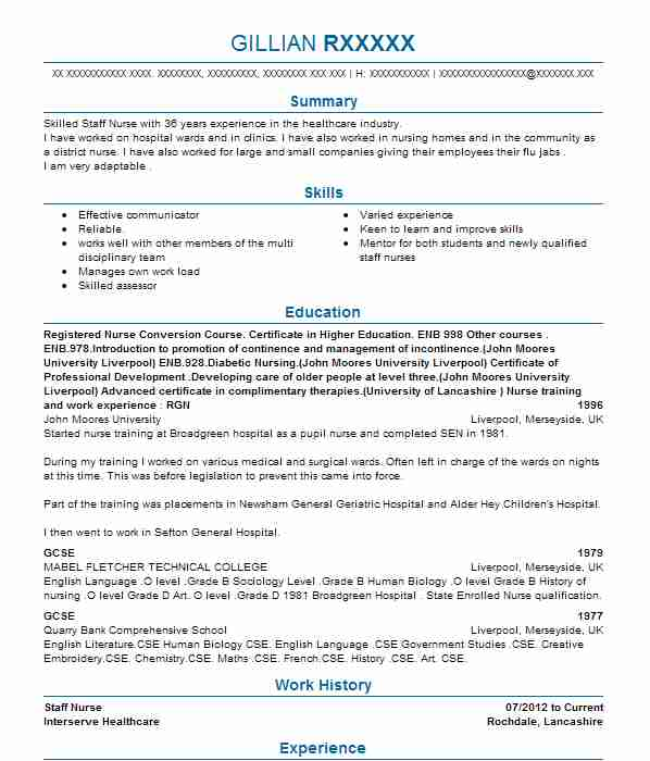top nursing cv