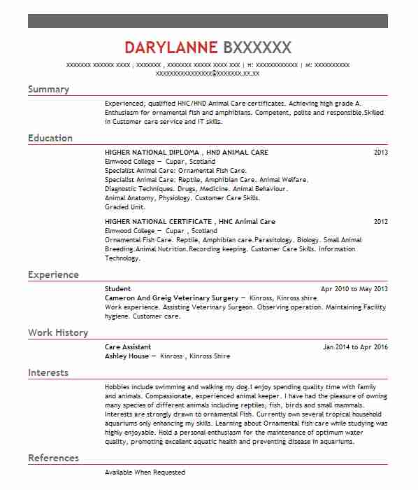 14 aquarium and marine life cv examples