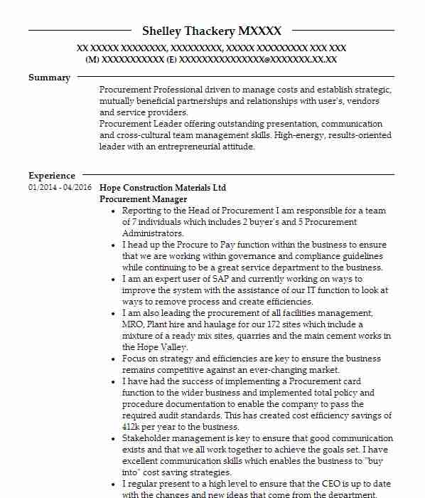 87 Senior Executive CV Examples Management CVs LiveCareer