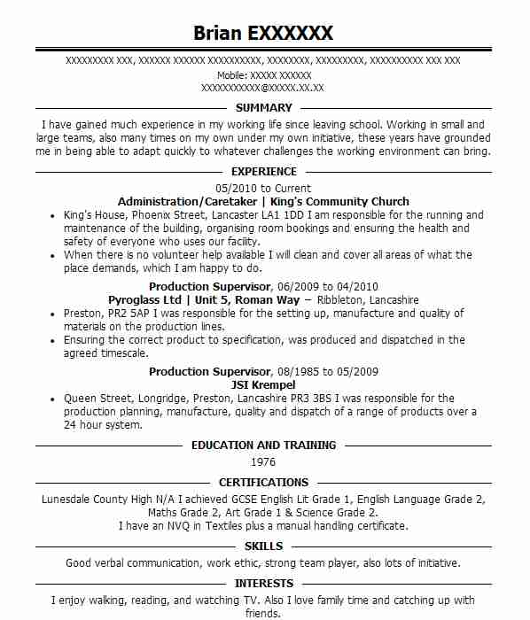 164 Textile And Apparel Cv Examples Amp Templates Livecareer