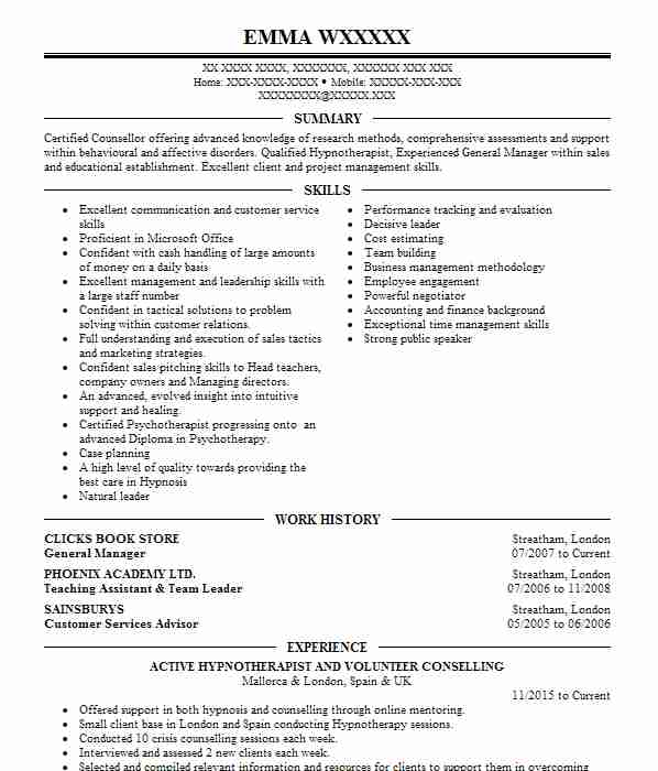 cleaning cv example