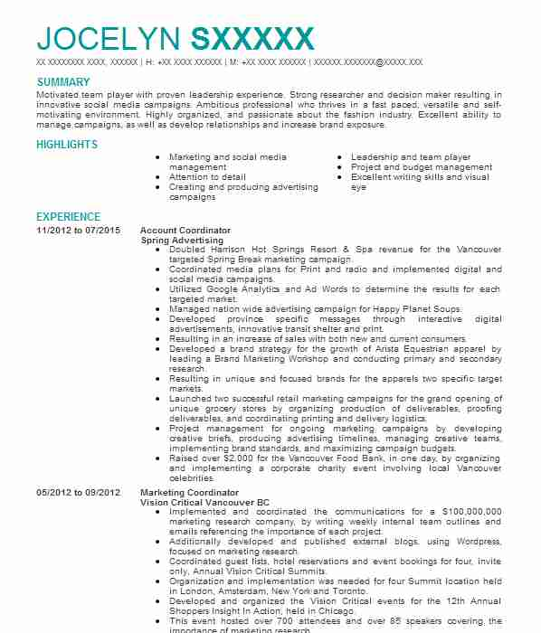 167 brand management cv examples
