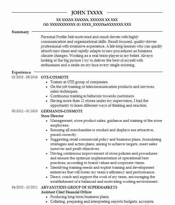 490 financial analysts cv examples
