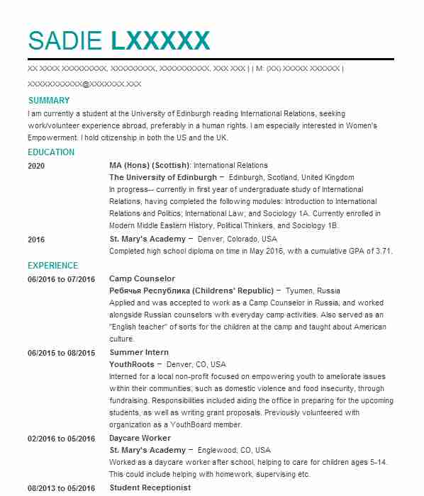 795 social sciences cv examples  u0026 templates