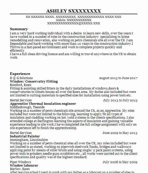 demolition  asbestos worker cv example  kitsons industrial