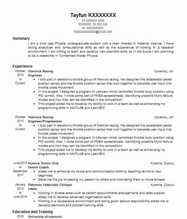 77 Physicists CV Examples