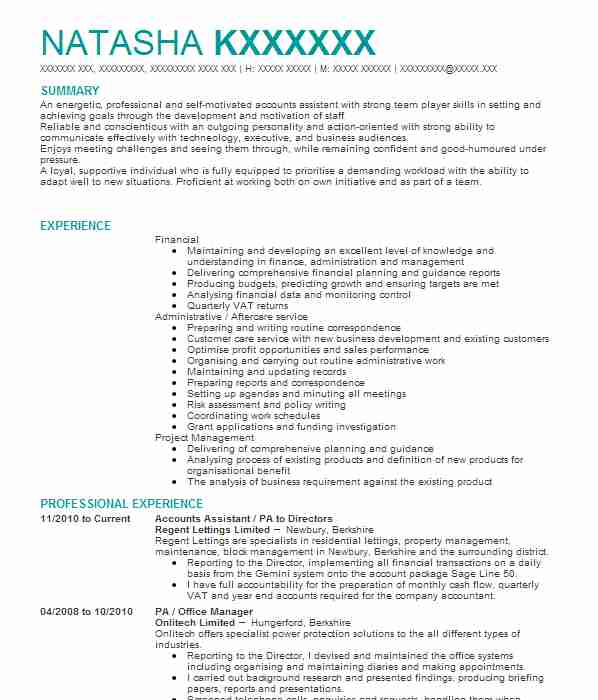 635 bookkeepers cv examples