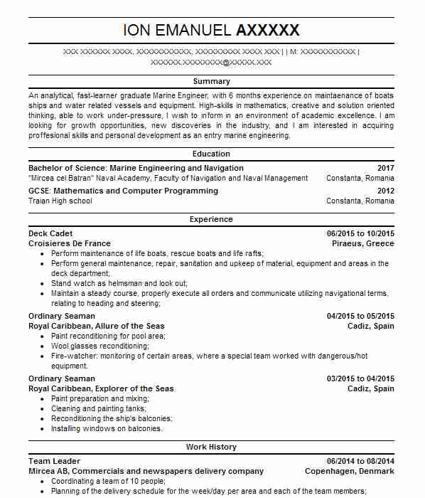 162 marine engineers cv examples engineering cvs livecareer top marine engineers cv yelopaper Images