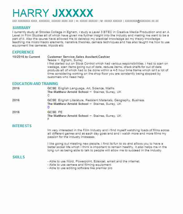 116 Directors And Producers Cv Examples Entertainment