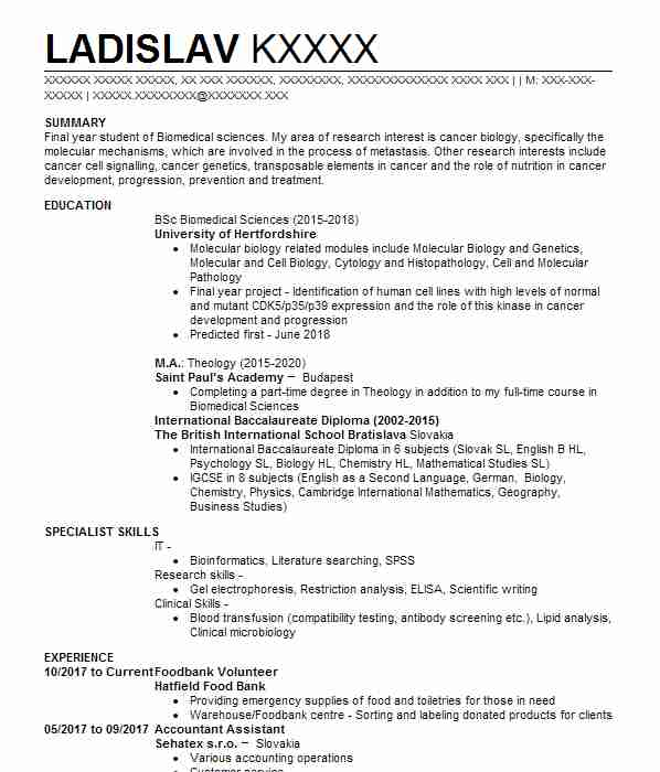 130 medical scientists and epidemiologists cv examples