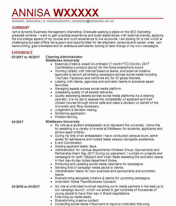 Sales assistant cv example hm clearing administrator middlesex university yelopaper Choice Image