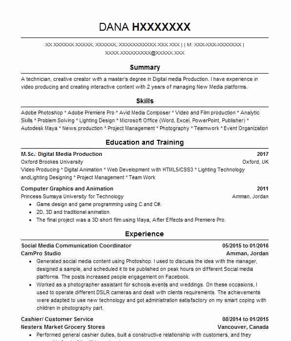 Digital Arts And Design CV Examples Computers And Technology - Game designer jobs uk