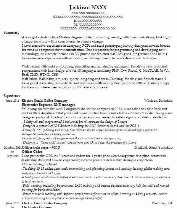 1498 electrical and electronic engineers cv examples