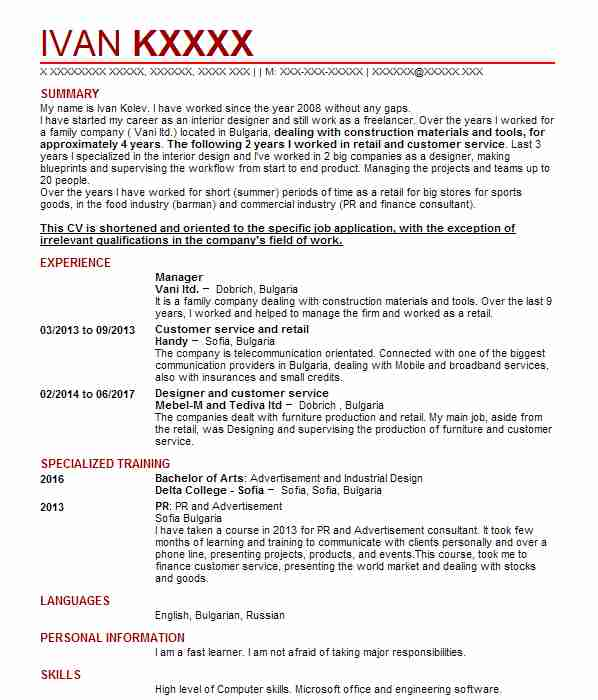 737 management cv examples
