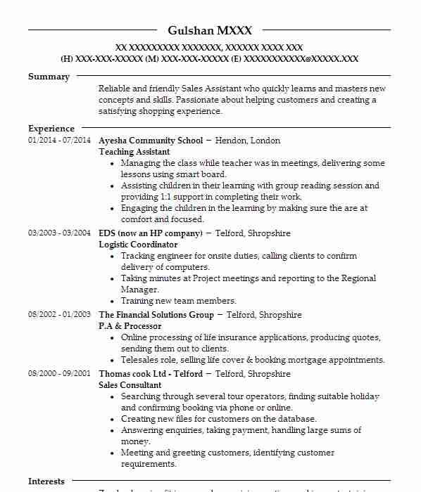 sample teacher cv ireland