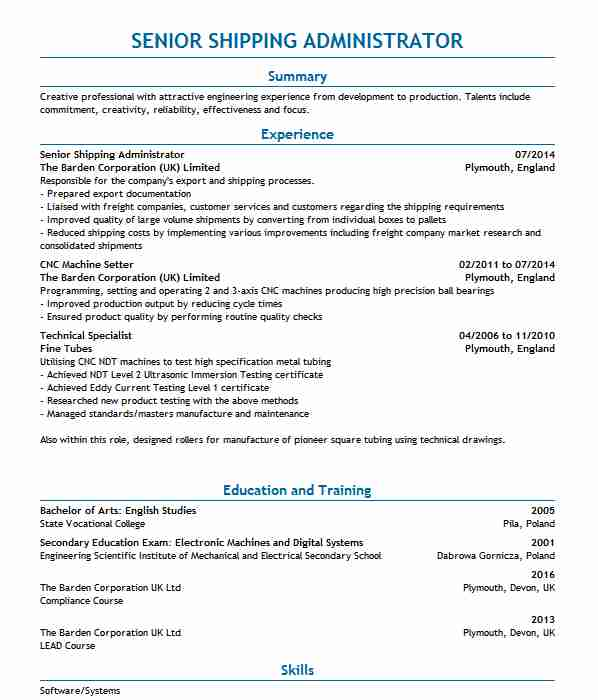 Factory Worker/Hot Dip Nylon Coating Technician CV Example